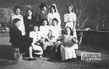 Rieucros représentation d'un mariage en 1941