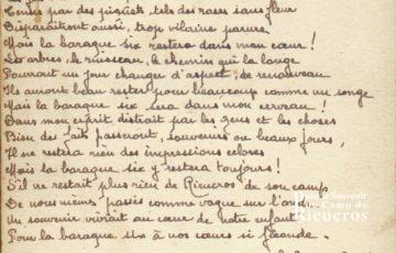 Texte écris à Rieucros