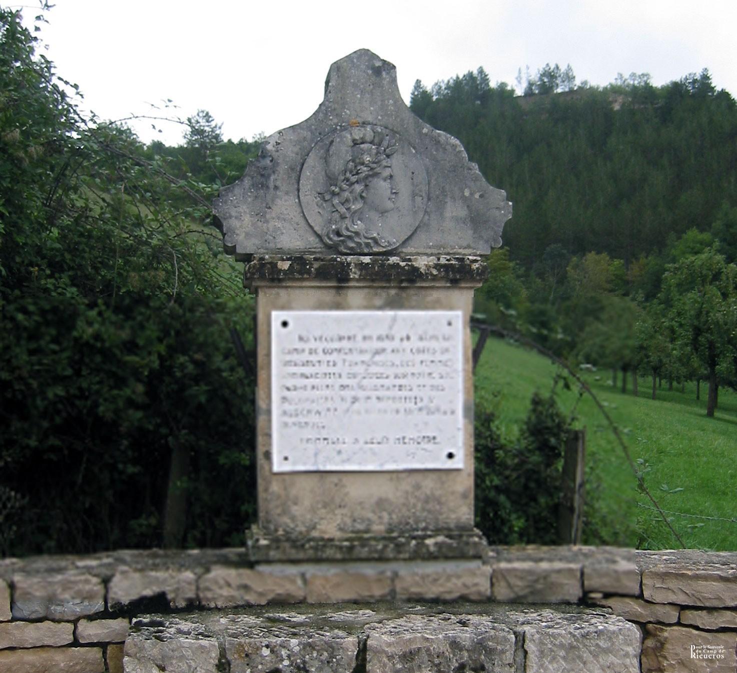 Stèle du camp de Rieucros